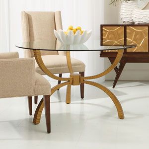 Studio A Teton Gold Table Base Only