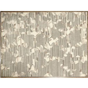 Studio A Anemone Gray and Ivory Rectangular: 5 Ft. x 8 Ft. Area Rug