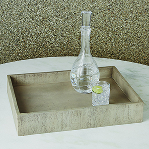 Studio A Driftwood Grey Rectangular Tray