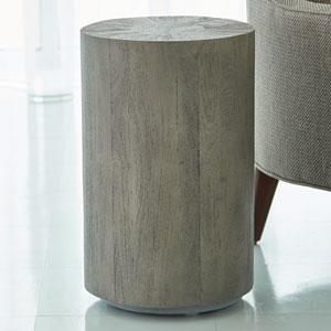 Grey Driftwood Drum Table