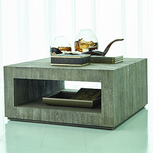 Studio A Driftwood Grey Square Coffee Table