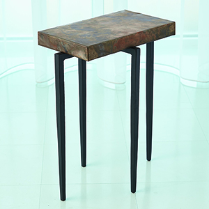 Studio A Laforge Black and Oxidized Copper Accent Table
