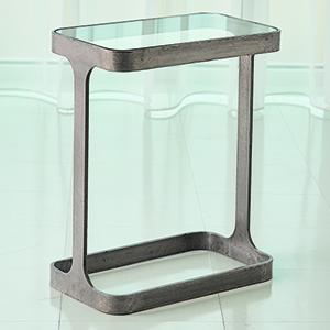 Studio A Natural Iron Saddle Table