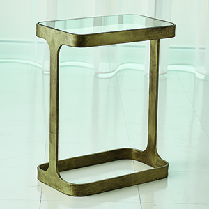 Studio A Antique Gold Saddle Table