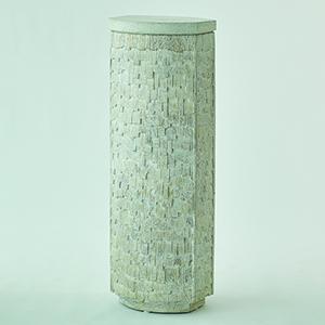 Studio A Shingles White with White Terrazzo Pedestal