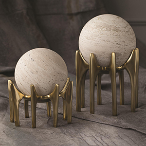 Studio A Aquilo Antique Brass Large Sphere Holder