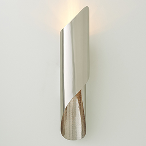 Studio A Hardwired Antique Nickel Curl One-Light Wall Sconce
