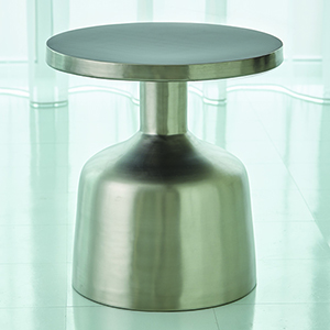 Studio A Neutra Satin Nickel Accent Table