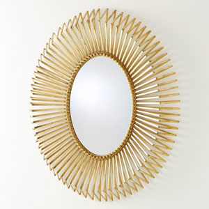 Andreas Gold Leaf Mirror