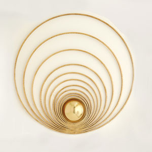 Radial Sphere Gold Leaf Panel