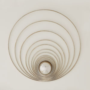 Radial Silver Leaf Sphere Panel