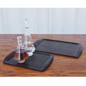 Pressed Black Cerused Oak Small Wood Tray