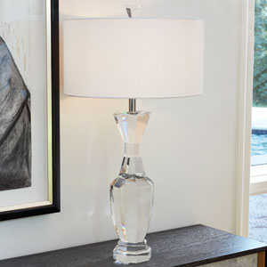 Crystal Clear Urn Lamp