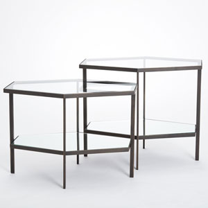 Hexagon Bronze Tall Table