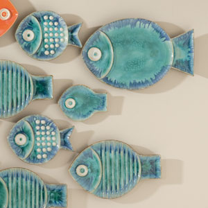 Blue Medium Fish Plate