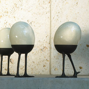 Ostrich Egg On Walking Legs