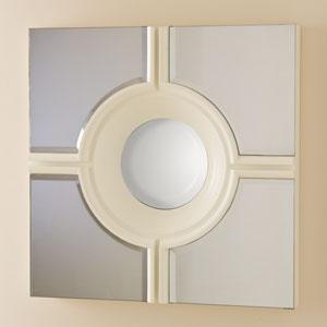 Bulls Eye White Cross Mirror