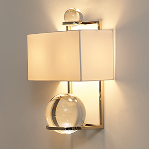 Fortune Teller Polished Stainless Steel Two-Light Sconce