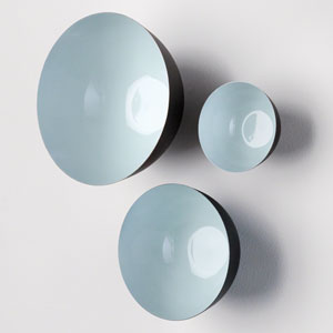 Flying Wall Pale Aqua Bowls, Set of Three