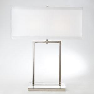 Crystal Slab Two-Light Lamp