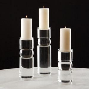 Bipolar Medium Crystal Candleholder