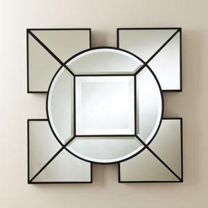 Arabesque Black Square Mirror
