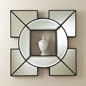 Arabesque Black Shadow Box Mirror