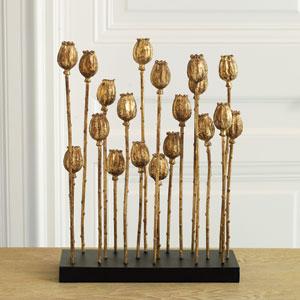 Poppy Pod Gold Sculpture