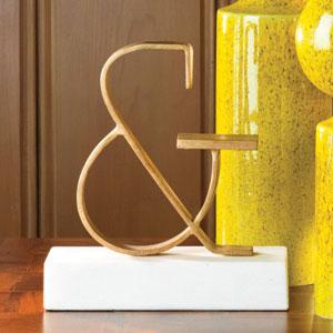 Ampersand Gold Objet