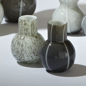 One Bubble Light Gray Vase