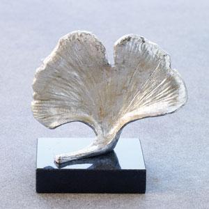 Ginkgo Silver Leaf Objet