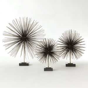 Boom Nickel Medium Tabletop Sculpture