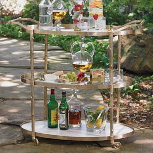 Brass Arbor Bar Cart