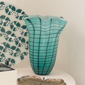 Ripple Blue Large Vase