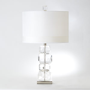 Stacked Gemstone Short One-Light Lamp