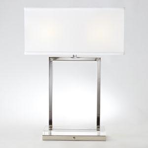 Mini Crystal Slab Two-Light Lamp