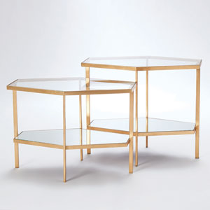 Gold Hexagon Table