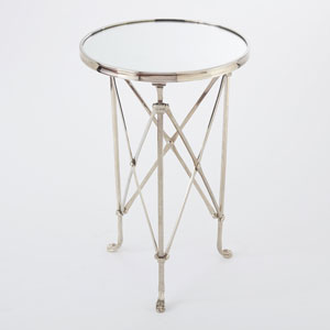 Directoire Nickel and Mirror Table