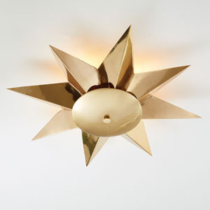Klismos Brass Ceiling Fixture