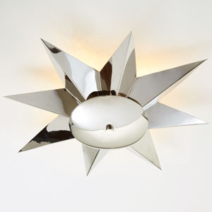 Klismos Nickel Ceiling Fixture