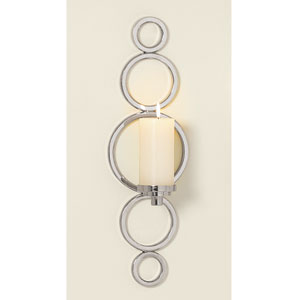 Progressive Nickel Ring Sconce