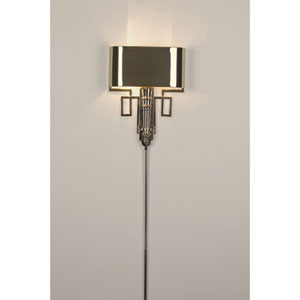 Torch Nickel Sconce with Shade