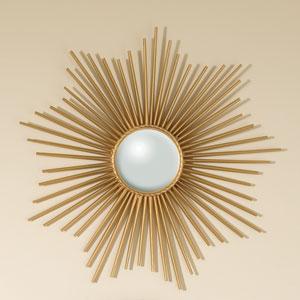 Mini Sunburst Gold Mirror