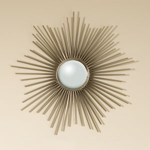 Mini Sunburst Nickel Mirror
