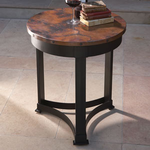 Antique Copper and Black Classic Copper Table