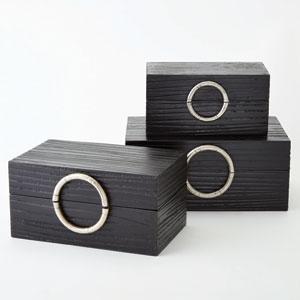 Artisan Black and Nickel Medium Jewelry Box