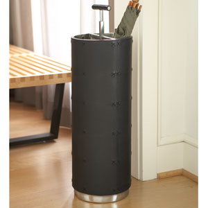 Black Leather Umbrella Stand