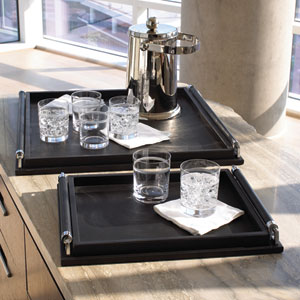 Black Large Wrapped Handle Tray Only