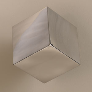 Tumbling Block Stainless Steel Wall Cube
