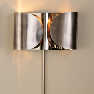 Folded Antique Nickel Two-Light Sconce